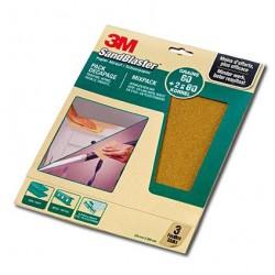 3M Sandblaster Handvel 230x280 per 3 Vellen